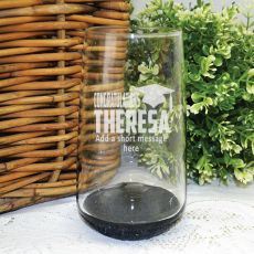Graduation Engraved Personalised Glass Tumbler