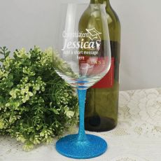 Graduation Engraved Personalised Wine Glass 450ml