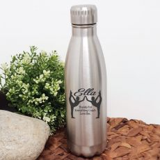 Gymnastic Coach Engraved Stainless Steel Drink Bottle - Silver