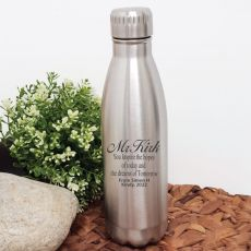 Teacher Engraved Stainless Steel Drink Bottle - Dreams