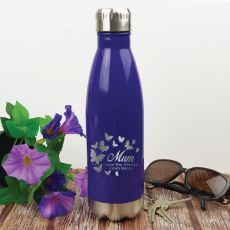 Mum Personalised Stainless Steel Drink Bottle - Purple