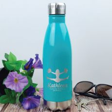 Cheerleading Coach Engraved Stainless Steel Drink Bottle - Teal