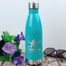 Gymnastic Coach Engraved Stainless Steel Drink Bottle - Teal