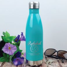 Netball  Coach Engraved Stainless Steel Drink Bottle - Teal