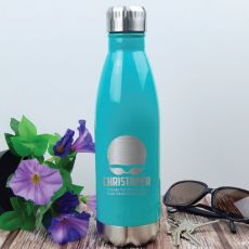Swim Coach Engraved Stainless Steel Drink Bottle - Teal