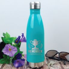 Coach Engraved Stainless Steel Drink Bottle - Teal