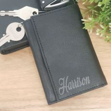 Godfather Engraved Leather Key & RFID Card Holder