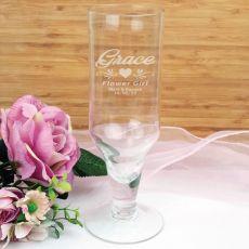 Flower Girl Engraved Personalised Pilsner Glass