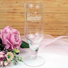 Godmother Engraved Personalised Pilsner Glass