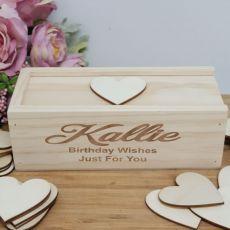 Birthday Wooden Guest Book Message Box