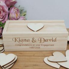 Engagement Wooden Guest Book Message Box