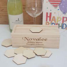 Wooden Birthday Guest Book Message Box