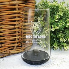 Teacher Engraved Personalised Glass Tumbler 400ml