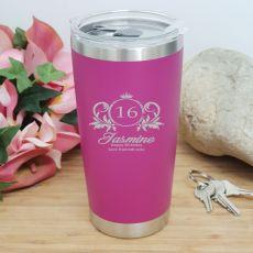 16th Insulated Travel Mug 600ml Pink