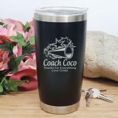 Cheerleading Coach Insulated Travel Mug 600ml Black