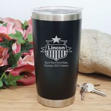 Football Coach Insulated Travel Mug 600ml Black