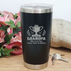 Grandpa Insulated Travel Mug 600ml Black
