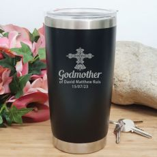 Godmother Personalised Insulated Travel Mug 600ml Black