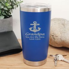 Grandpa Insulated Travel Mug 600ml Dark Blue