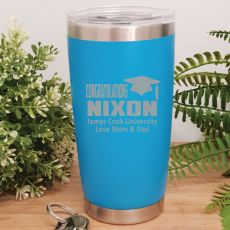 Graduation Insulated Travel Mug 600ml Blue