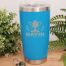 Personalised Insulated Travel Mug 600ml Light Blue (M)