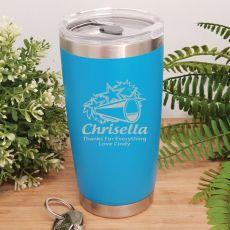 Cheerleading Coach Insulated Travel Mug 600ml Light Blue