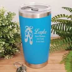 Dance Coach Insulated Travel Mug 600ml Light Blue