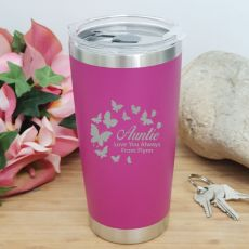 Aunt Insulated Travel Mug 600ml Pink