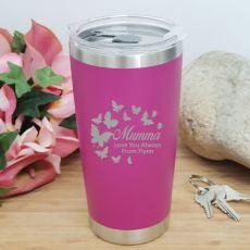 Mum Insulated Travel Mug 600ml Pink