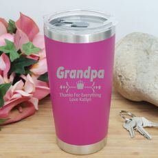 Grandpa Insulated Travel Mug 600ml Pink
