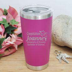 Graduation Insulated Travel Mug 600ml Pink