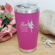 Dance Coach Insulated Travel Mug 600ml Pink