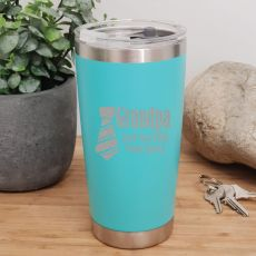 Grandpa Insulated Travel Mug 600ml Teal
