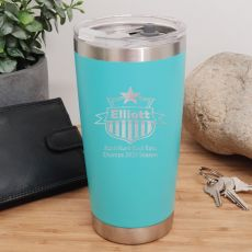 Football Coach Insulated Travel Mug 600ml Teal