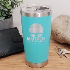 Swim Coach Engraved Insulated Travel Mug 600ml Teal