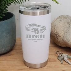 Personalised Insulated Travel Mug 600ml White (M)