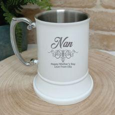 Nana Engraved Stainless Steel Black Beer Stein