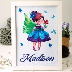 Personalised Framed Nursery Print - Fairy