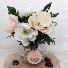 70th Birthday Anemone Berry Flower Mix in Vase - Pink