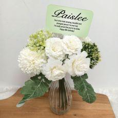 40th Birthday Allium Bouquet Personalised Picket