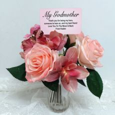 Godmother Bouquest Rose Cymbidium with Personalised Picket