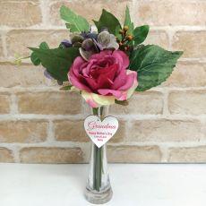 Scented Floral Arrangement  & Vase w/ Grandma Tag