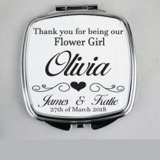 Flower Girl Compact Mirror Typography Print