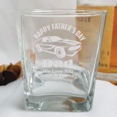 Father's Day Engraved Personalised Scotch Spirit Glass