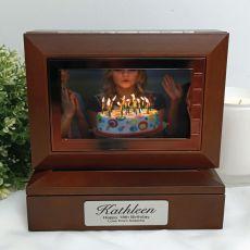 18th Wooden Photo Keepsake Trinket Box