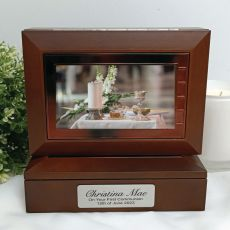 1st Holy Communion Wooden Photo Keepsake Trinket Box