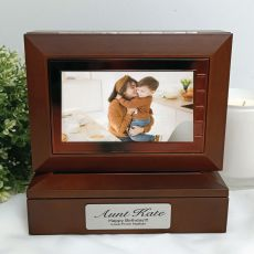 Aunt Wooden Photo Keepsake Trinket Box