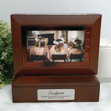 Flower Girl Wooden Photo Keepsake Trinket Box