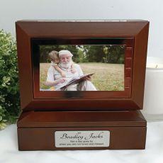Memorial Wooden Photo Keepsake Trinket Box
