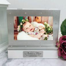 Baby Photo Keepsake Diamente Trinket Box